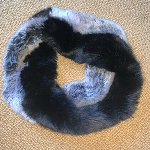 Anthropologie Faux Fur Infinity Scarf
